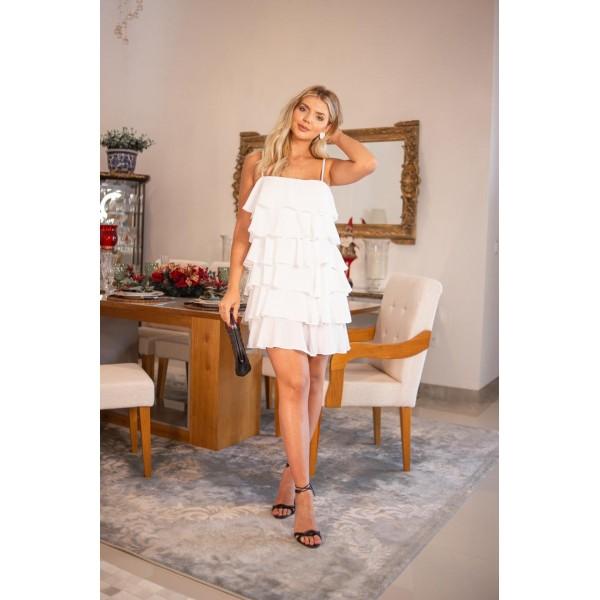 vestido camadas -branco ref 44159229