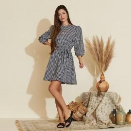 Vestido Vichy bordado Ref 30440159