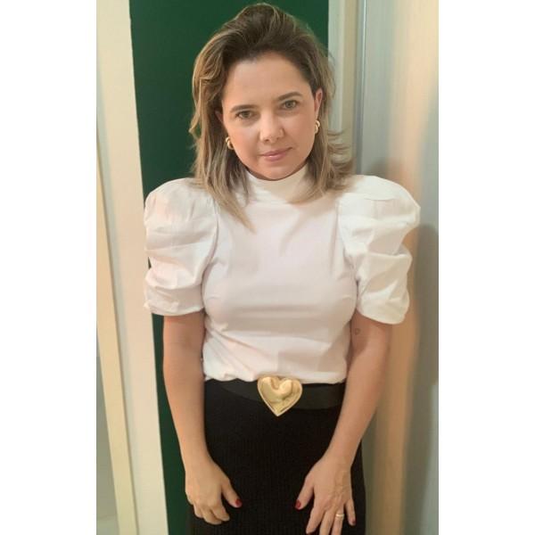 Blusa tricoline branca  ref 44109960