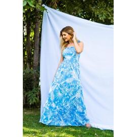 vestido longo estampado reef 44179131