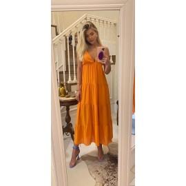 vestido crepe -laranja ref 44179219