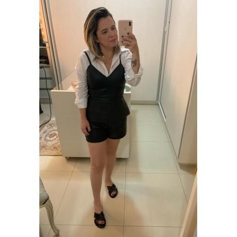 short couro ( Preto ) ref 4498929