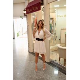 Vestido fio lurex Branco ref 44158703