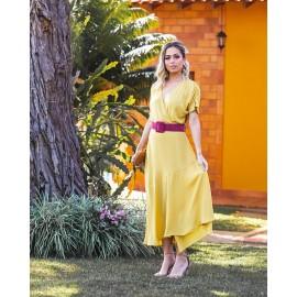 Vestido crepe- banana ref 44179728