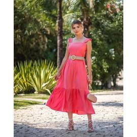 Vestido Mid Saia Maria Coral ref 44158738