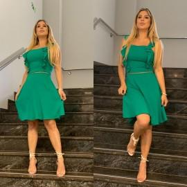 Vestido viscolinho - verde ref 44126729