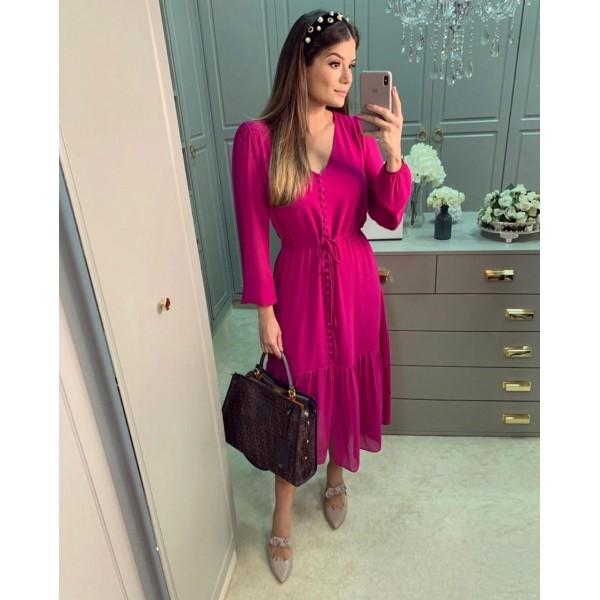 PRÉ VENDA vestido crepe pink ref 44192641