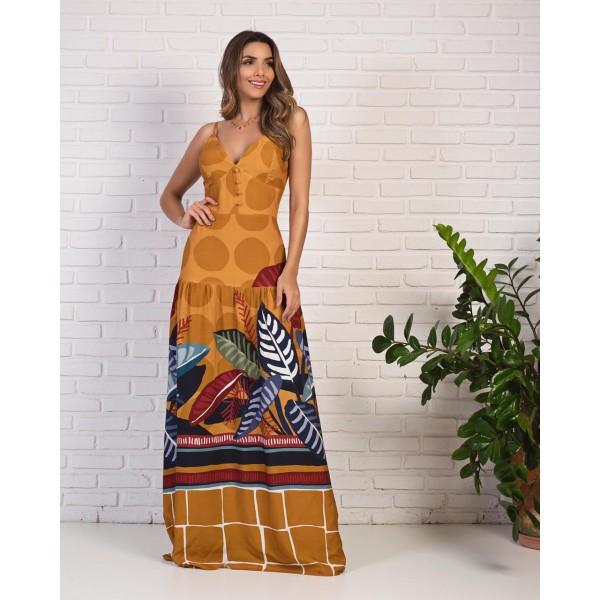 Vestido longo estampado ref 44192685